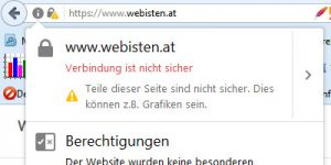 Screenshot Website Webisten mit HTTPS trotzdem unsicher