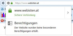 Screenshot Website Webisten mit HTTPS